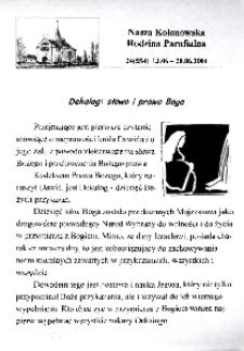 Nasza Kolonowska Rodzina Parafialna 2004, nr 24 (554).