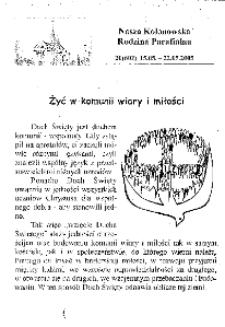 Nasza Kolonowska Rodzina Parafialna 2005, nr 20 (602).
