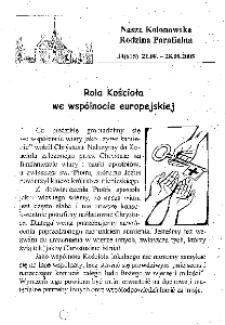 Nasza Kolonowska Rodzina Parafialna 2005, nr 34 (615) [616].