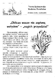 Nasza Kolonowska Rodzina Parafialna 2006, nr 33 (666).