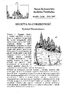 Nasza Kolonowska Rodzina Parafialna 2007, nr 4 (689).