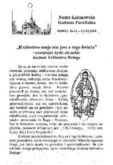 Nasza Kolonowska Rodzina Parafialna 2006, nr 48 (681).