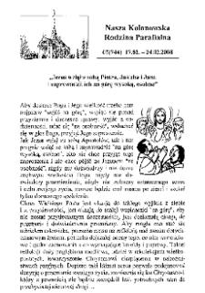 Nasza Kolonowska Rodzina Parafialna 2008, nr 7 (744).