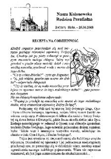 Nasza Kolonowska Rodzina Parafialna 2008, nr 20 (757).