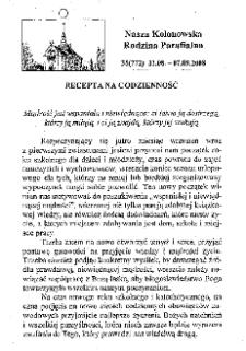Nasza Kolonowska Rodzina Parafialna 2008, nr 35 (772).