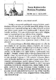 Nasza Kolonowska Rodzina Parafialna 2008, nr 43 (780).