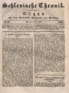 Schlesische Chronik, 1847, Jg. 12, No. 47