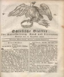 Schlesische Blätter für Unterhaltung, Kunst und Literatur, 1828, Nro. 50