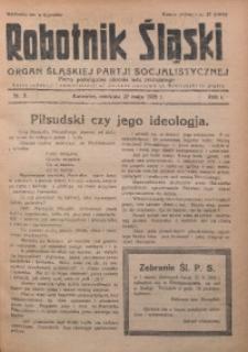 Robotnik Śląski, 1928, R. 1, Nr. 9