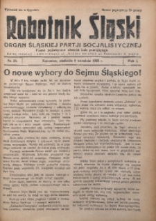 Robotnik Śląski, 1928, R. 1, Nr. 24