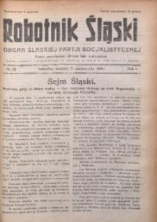 Robotnik Śląski, 1928, R. 1, Nr. 30