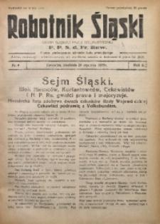 Robotnik Śląski, 1929, R. 2, Nr. 4