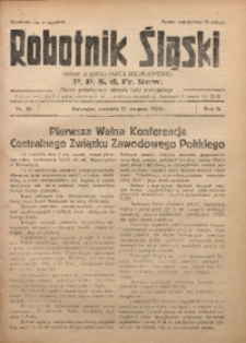 Robotnik Śląski, 1929, R. 2, Nr. 33
