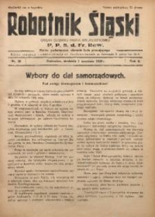 Robotnik Śląski, 1929, R. 2, Nr. 36
