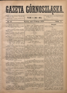 Gazeta Górnoszląska, 1878, R. 5, Nr. 11