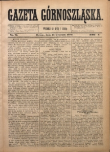 Gazeta Górnoszląska, 1878, R. 5, Nr. 72