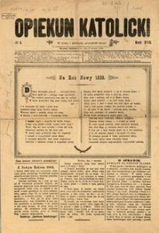 Opiekun Katolicki, 1889, R. 16, Nr. 1