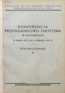 Konferencja propagandowo-taryfowa w Katowicach w dniach od 3 do 5 czerwca 1937 r. Sprawozdanie 2