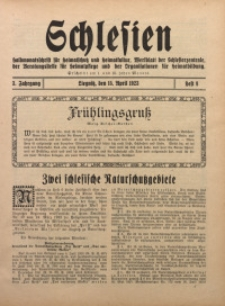 Schlesien, 1923, Jg. 3, H. 8