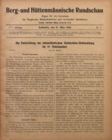Berg- und Hüttenmännischen Rundschau, 1919/1920, Jg. 16, Nr. 6