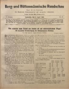 Berg- und Hüttenmännischen Rundschau, 1908/1909, Jg. 5, Nr. 13