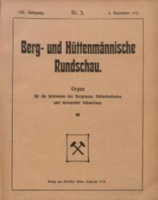 Berg- und Hüttenmännischen Rundschau, 1911/1912, Jg. 8, Nr. 5