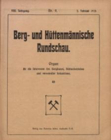 Berg- und Hüttenmännischen Rundschau, 1911/1912, Jg. 8, Nr. 9