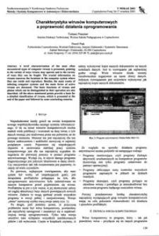 Charakterystyka wirusów komputerowych a poprawność działania oprogramowania