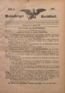 Rosenberger Kreisblatt, 1897, St. 6