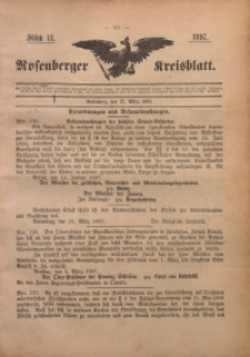 Rosenberger Kreisblatt, 1897, St. 13