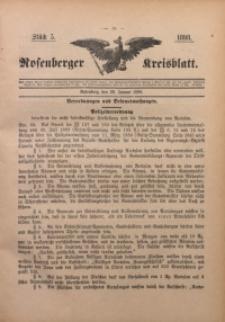Rosenberger Kreisblatt, 1898, St. 5