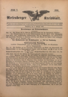 Rosenberger Kreisblatt, 1898, St. 6