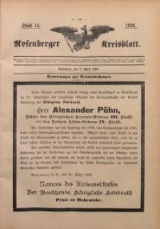 Rosenberger Kreisblatt, 1898, St. 14