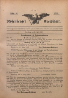 Rosenberger Kreisblatt, 1898, St. 16