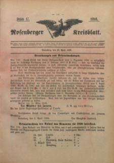 Rosenberger Kreisblatt, 1898, St. 17