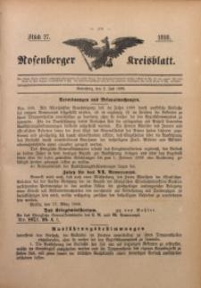 Rosenberger Kreisblatt, 1898, St. 27