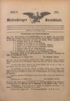 Rosenberger Kreisblatt, 1898, St. 34