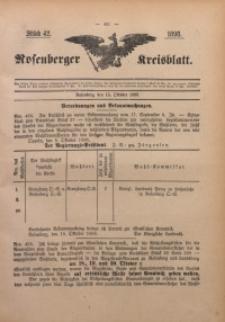 Rosenberger Kreisblatt, 1898, St. 42