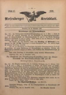Rosenberger Kreisblatt, 1898, St. 47