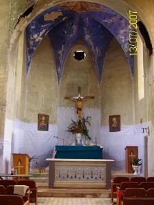 Kuropatniki. Wnętrze kościoła.