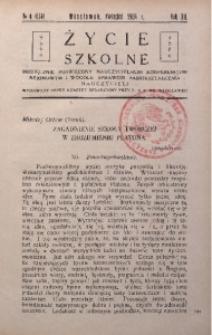 Życie Szkolne, 1934, R. 12, no 4