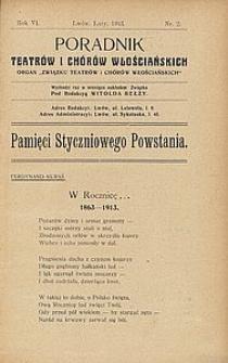 Poradnik Teatrów i Chórów Włościańskich, 1913, R. 6, nr 2