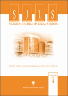 Silesian Journal of Legal Studies : Contents Vol. 4