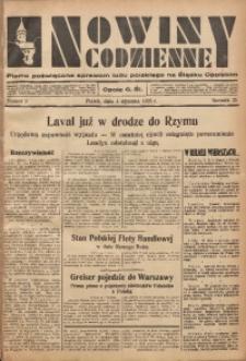 Nowiny Codzienne, 1935, R. 25, nr 3