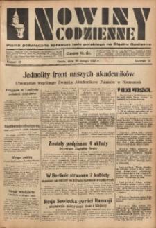 Nowiny Codzienne, 1935, R. 25, nr 42