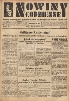 Nowiny Codzienne, 1935, R. 25, nr 66