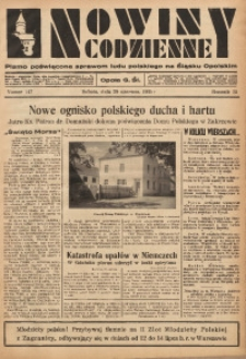 Nowiny Codzienne, 1935, R. 25, nr 147