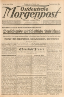 Ostdeutsche Morgenpost, 1938, Jg. 20, Nr. 38