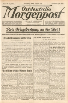 Ostdeutsche Morgenpost, 1938, Jg. 20, Nr. 54