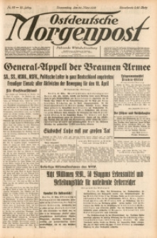 Ostdeutsche Morgenpost, 1938, Jg. 20, Nr. 82
